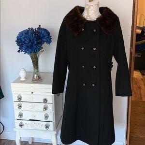 Vintage fur collar jacket